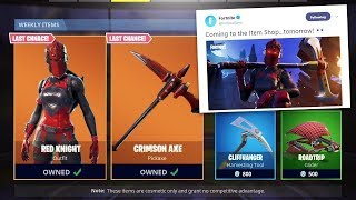 SKIN RED LADY IN THE FORTNITE MORNING SHOP! THE RED LADY RETURNS TO FORTNITE BATTLE ROYALE