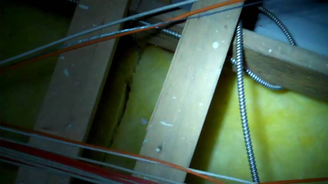 hight resolution of running cable in attic spaces