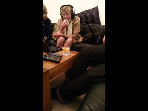 My Gran listening to 'Peter Kay funny song lyrics'