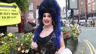 PT3 Chester pride member upstages Homophobic protest in most awesome way !!!!