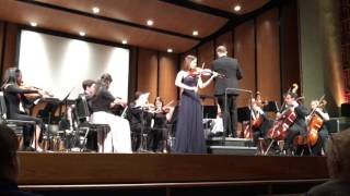 Jordan Docter plays Symphonie Espagnole in D minor, Op. 21 by Édouard Lalo on the violin at Samohi