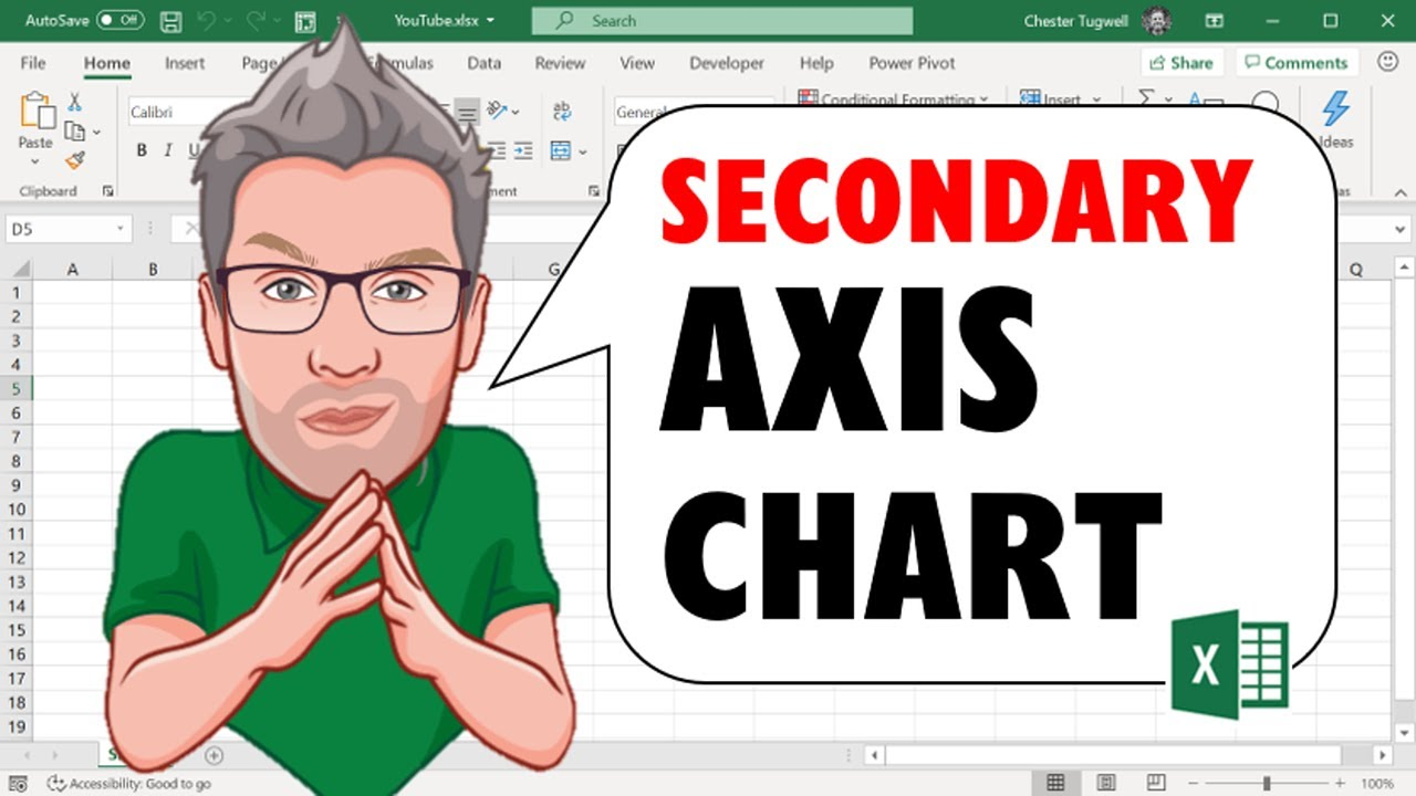 Secondary axis excel adding  to chart also youtube rh
