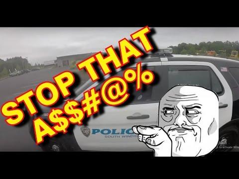 Idiot Driver Bullies Biker, Cops Help out