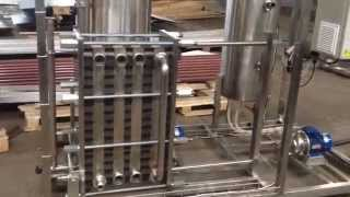 видео пастеризационно охладительная установка