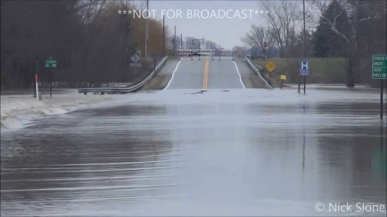 Flooding from the Sandusky River - Tiffin and Fremont, OH - Dec  22, 2013