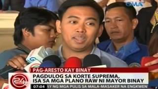 24 Oras: Mayor Binay, handang maaresto pero nag-aalala raw para sa mga anak