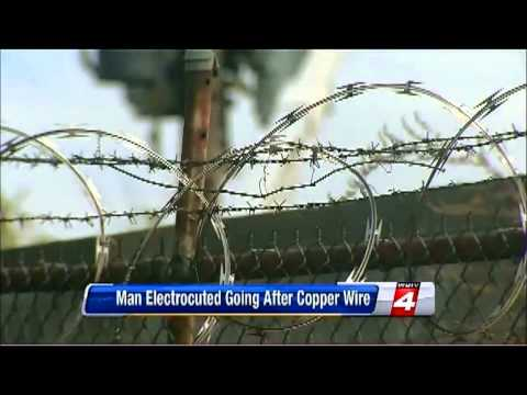 Copper Thief found hanging from Electrical Pole in Detroit