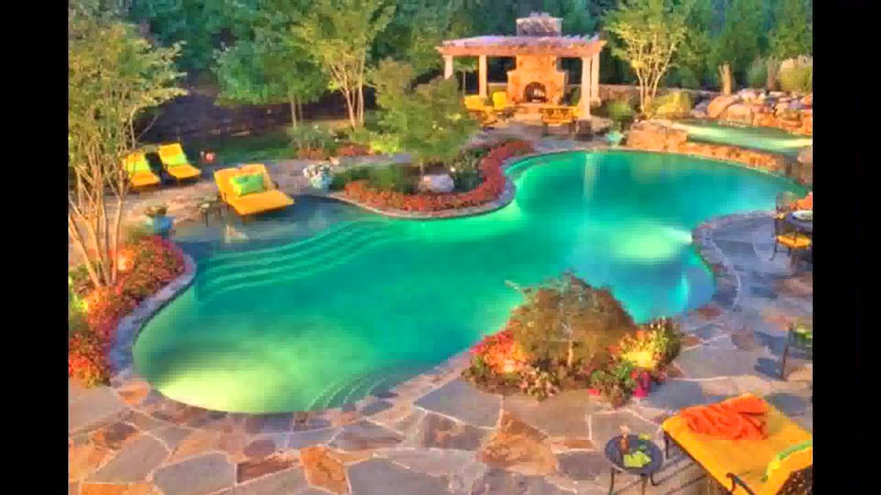 best tropical swimming pool design ideas plans waterfalls