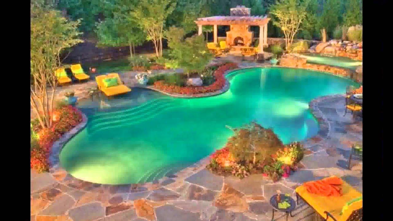 Best Tropical Swimming Pool Design Ideas Plans Waterfalls ...