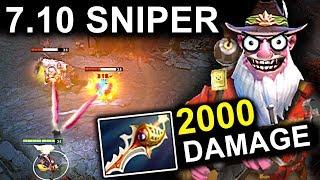 NEW SNIPER PATCH 7.10 DOTA 2 NEW META GAMEPLAY #41 (Снайпер Дота 2 Патч 7.10)