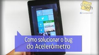 Como ativar o Acelerômetro no CCE TF74W com Windows 10
