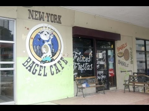 New York Bagel Cafe walk thru Ciudad Panama City