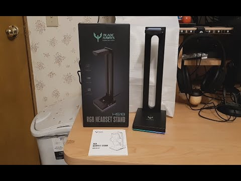 2019 10 11 UnBoxing Blade Hawks RGB Headphone Stand with 3 5mm AUX and 2 USB Ports