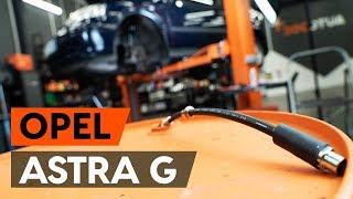 Kuinka korvata Takaiskunvaimennin ja etuiskunvaimennin OPEL ASTRA G Hatchback (F48_, F08_) - opetusvideo