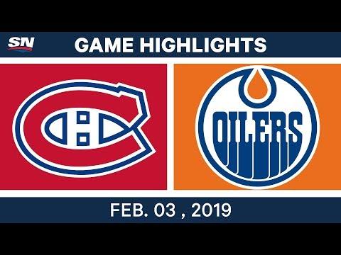 NHL Highlights | Oilers vs. Canadiens - Feb. 3, 2019