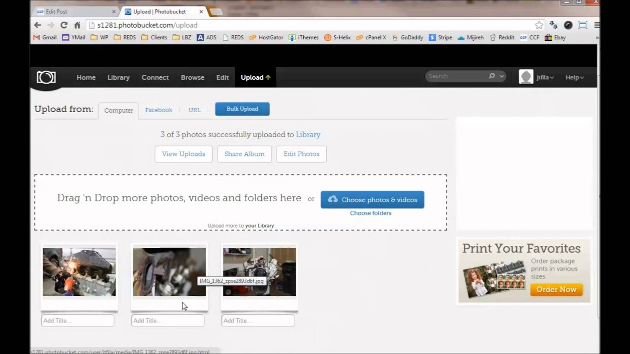 How to add photos to a forum using photobucket