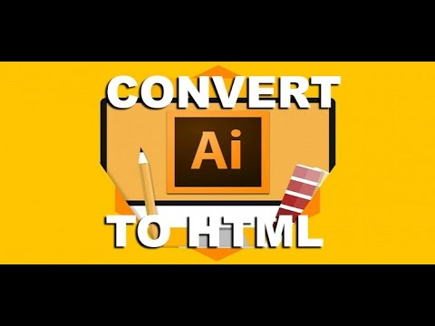 Convert Illustrator AI To HTML And CSS | Creative Cloud Plugin