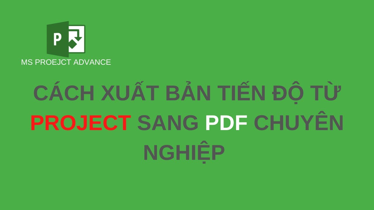 Cách xuất bản tiến độ từ Project sang Pdf chuyên nghiệp