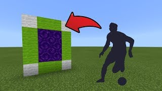 How To Make a Portal to the Soccer Dimension in MCPE (Minecraft PE)