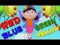 цветная песня | дошкольные песни | узнать цвета | Kids Learn | Nursery Rhymes | Color Song For Kids