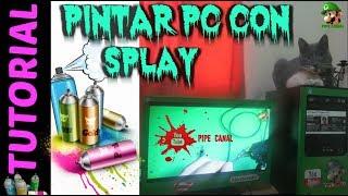 Como Pintar Con Aerosol o Splay cualquier gabinete, pc de mesa (pintar con aerosol o splay)