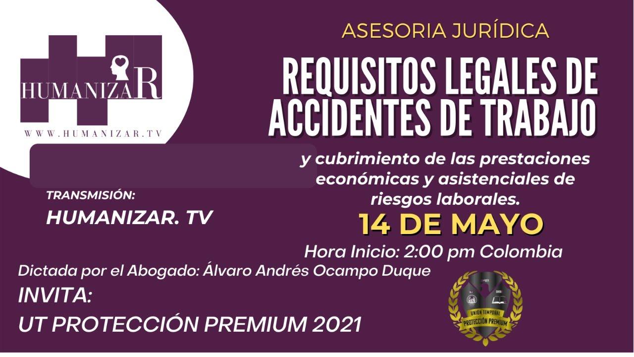 Asesoría Jurídica sobre requisitos legales de accidentes de trabajo
