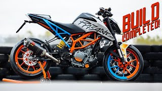 SICKEST STREETBIKE OF 2019  [Duke 390 street build - part 4] | RokON vlog #80