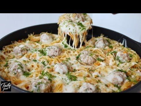 Рецепт гнезда из макарон с фаршем в мультиварке