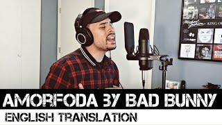 Bad Bunny - Amorfoda (ENGLISH TRANSLATION)