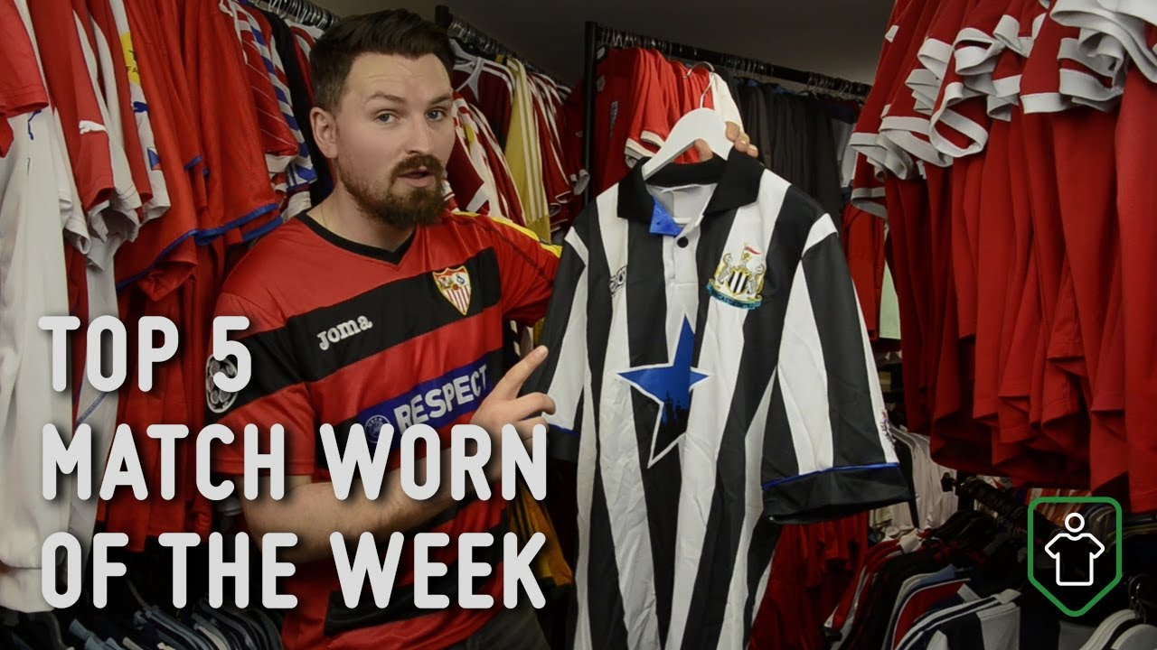 Classic Football Shirts  This Week s Top 5 Match Worn - YouTube e64c6ca79