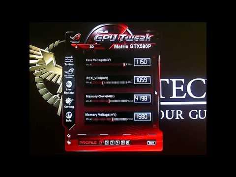 ASUS RoG Matrix GTX 580 Platinum - GPU Tweak Software Overclocking and Fan Noise