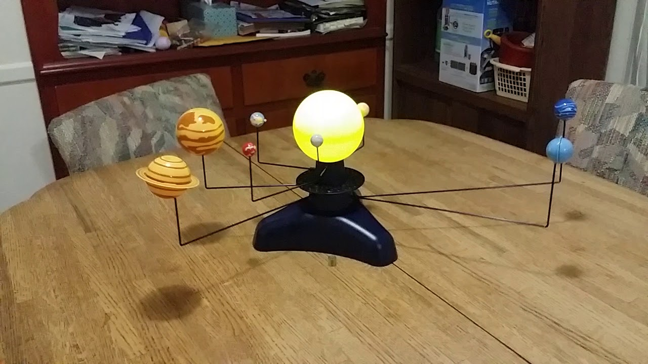 Motorized Solar System - YouTube