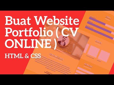 Buat Website Portfolio Dengan HTML & CSS | CV Online