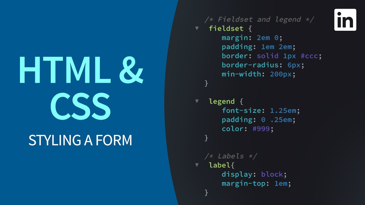 HTML and CSS – Styling labels and inputs on a form