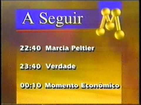 """Intervalo """"A Seguir"""" na Rede Manchete em 1997."""