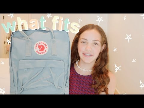 How Much FITS In A FJALLRAVEN KANKEN + Unboxing || It's Pier Story