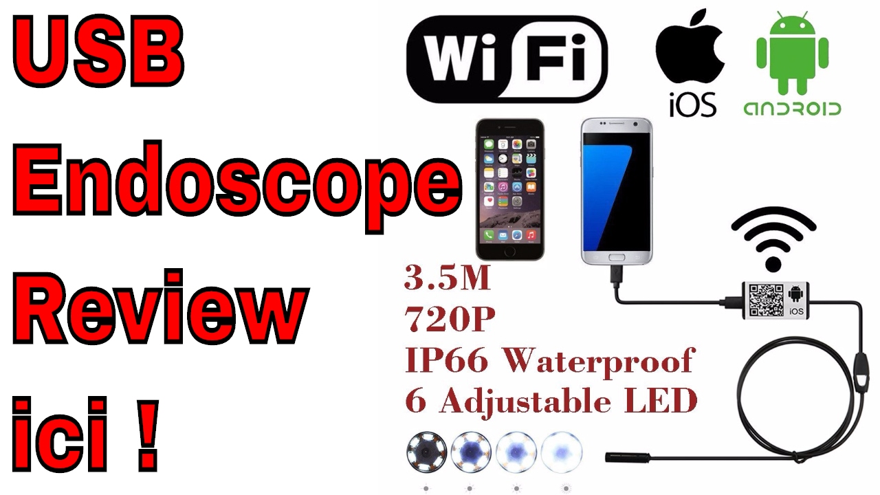 Endoscope cam ra review pour android ou iphone unboxing for Microcamera wifi per iphone e android