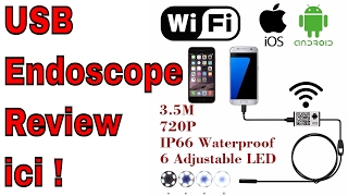 Endoscope Caméra Review Pour Android ou iPhone Unboxing Wifi ou Micro USB sur Tablette ThinkUnBoxing