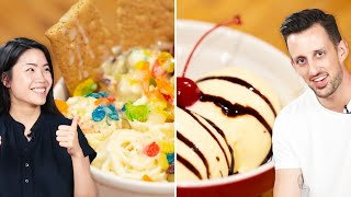 Trendy Vs. Traditional Ice Cream o Tasty