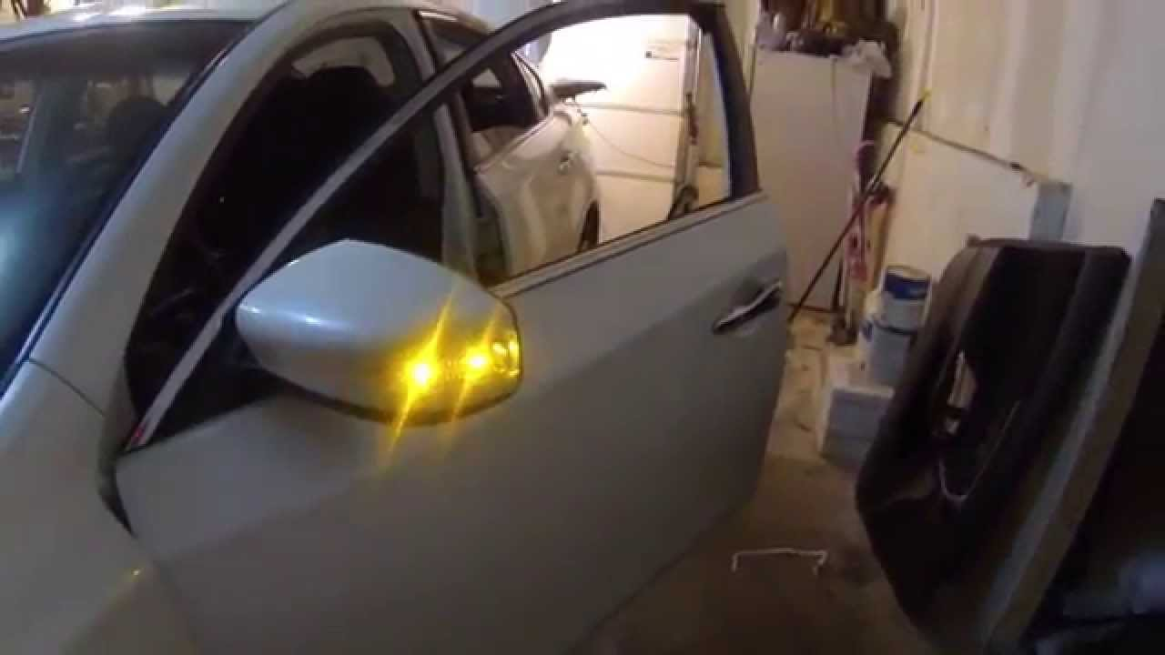 small resolution of side mirror upgrade led turn signal retrofit 2013 nissan altima youtube