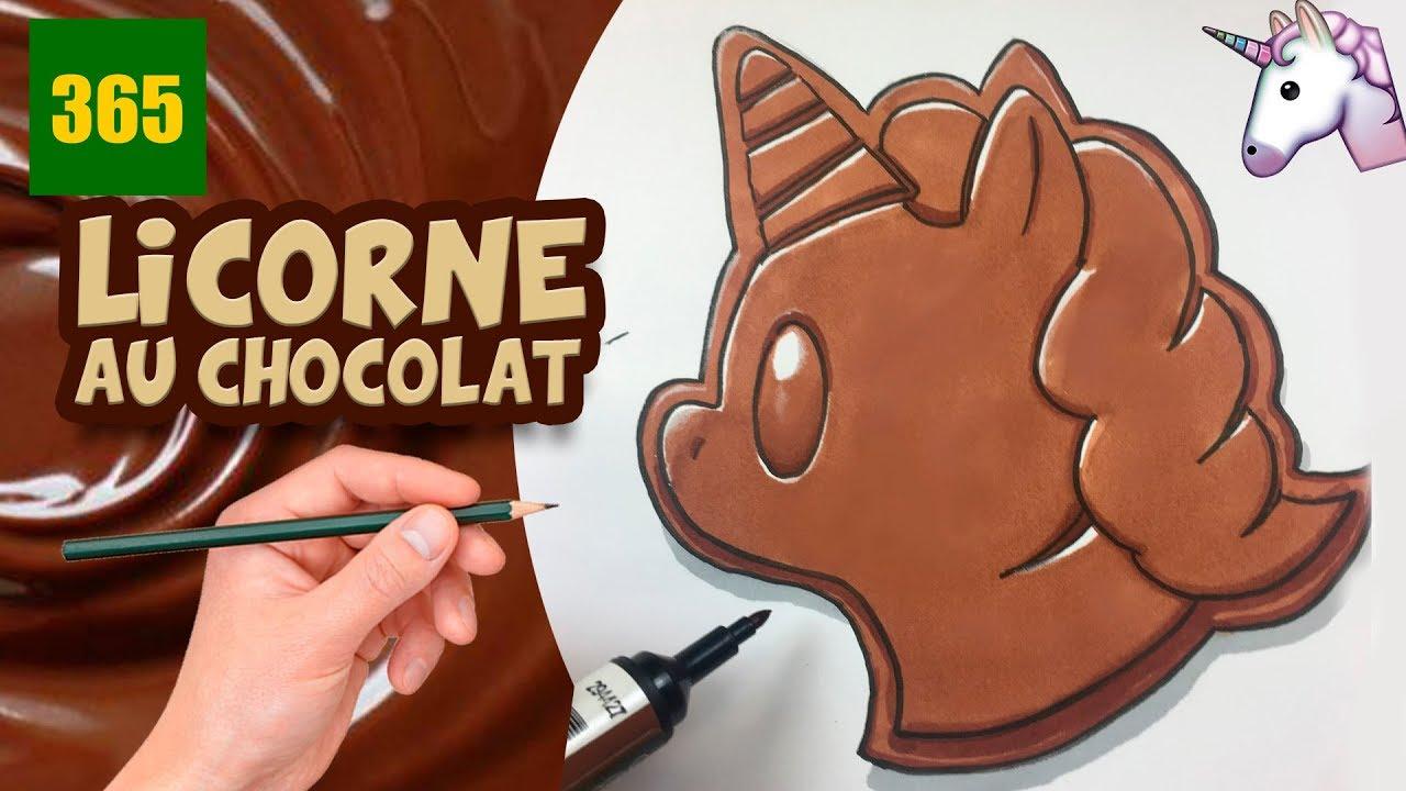 Comment Dessiner Une Licorne Emoji Eu Chocolat Kawaii Dessiner