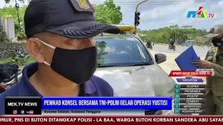 Pemkab Konsel Bersama TNI Polri Gelar Operasi Yustisi