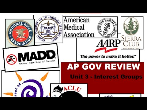 AP Gov: Everything To Know About Interest Groups - Part 1