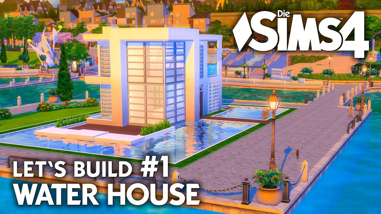 Modernes die sims 4 haus bauen water house 1 let 39 s for Modernes haus sims 4