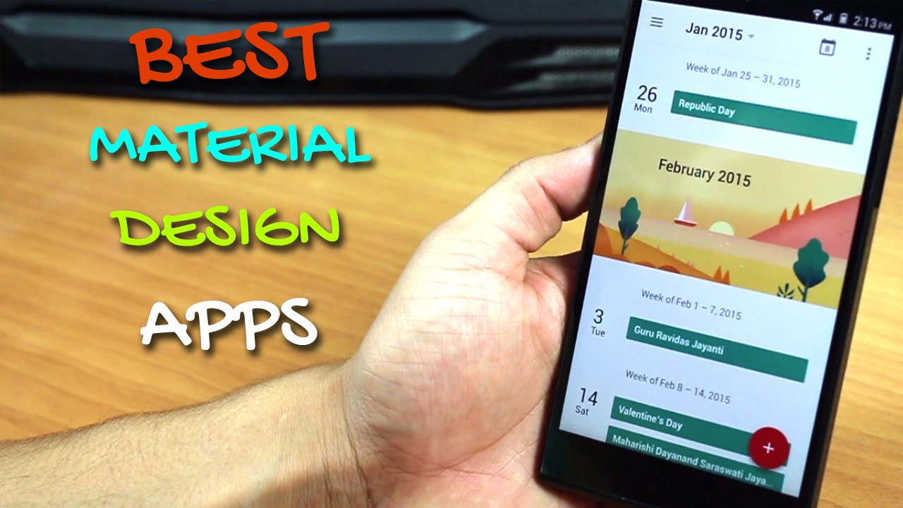 Top 10 Android Material Design Apps - YouTube