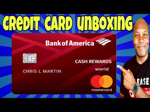 Bank of America Cash Rewards Credit Card - Credit Card UNBOXING image