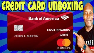 Bank of America Cash Rewards Credit Card - Credit Card UNBOXING