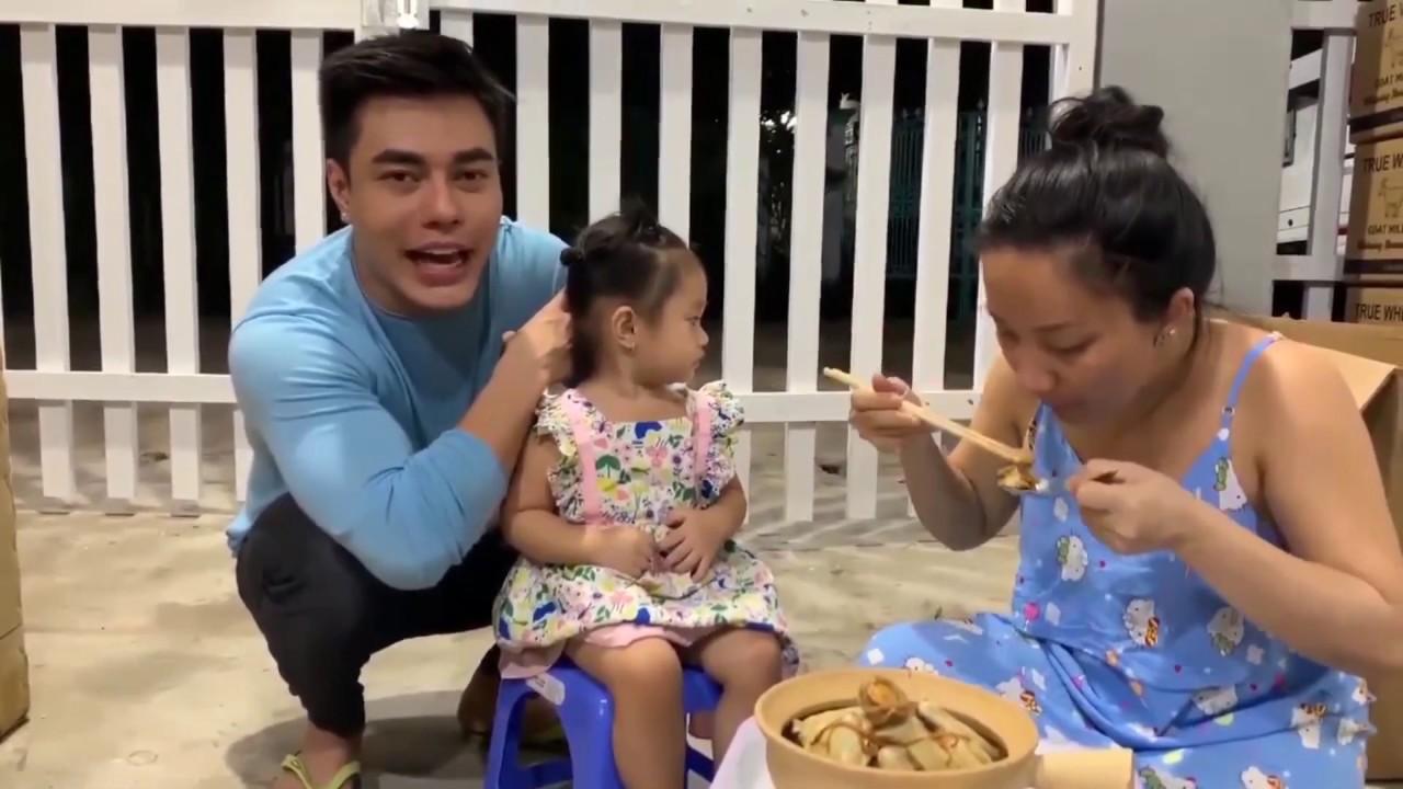 Thương bà bầu Quỳnh, Dương Lâm tậu gà hầm bào ngư cho 3 mẹ con tẩm bổ, tiết lộ giới tính em Bảo Nhi