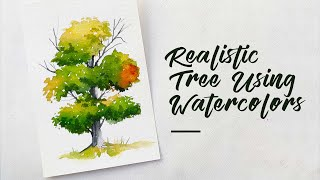 Watercolor Tree Painting Tutorial 🌳 || Learn the Step by Step Process