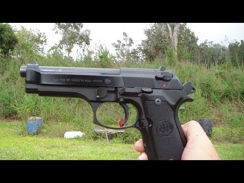 Beretta 92FS at the range close up. BATJAC J.W